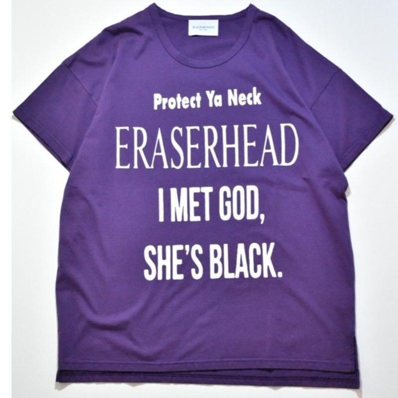 Black Weirdos /  ERASER Tee (Purple)
