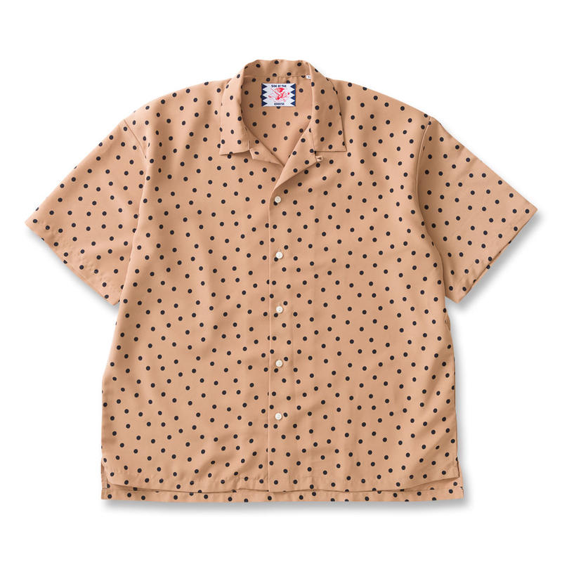 SON OF THE CHEESE / rain dot shirts  (BEIGE)