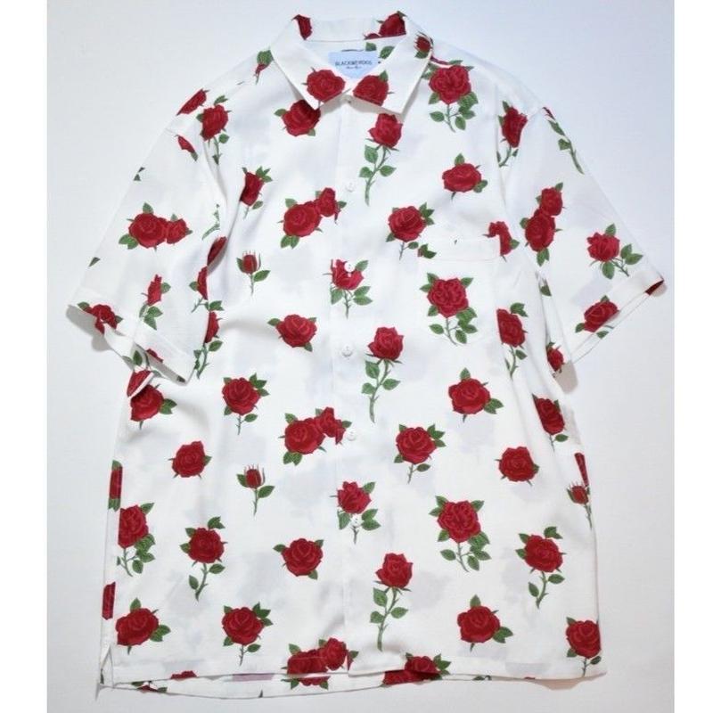Black Weirdos /  RoseSkull Aloha Shirt (White)