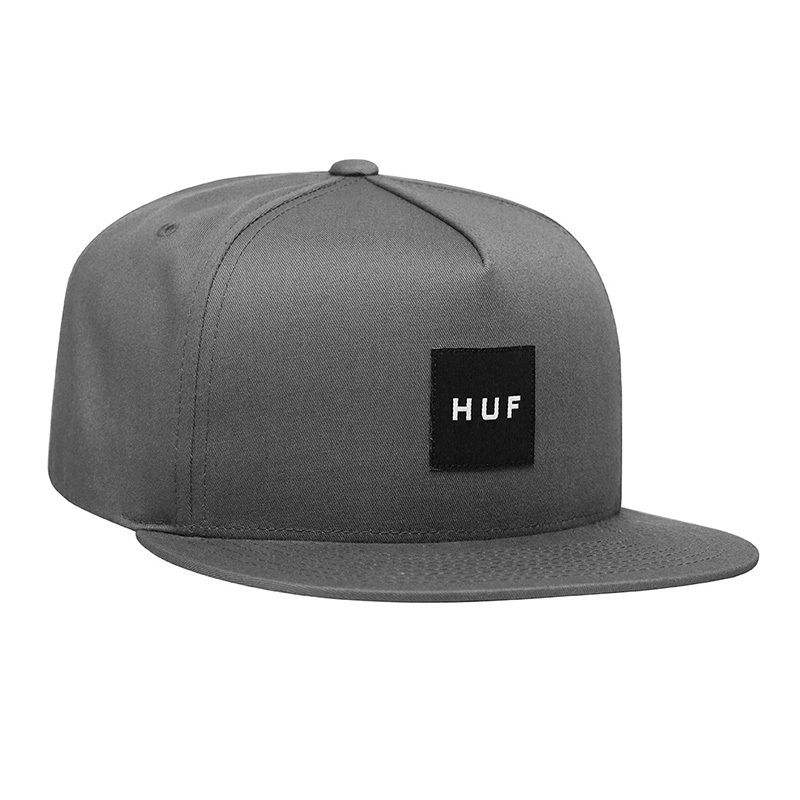 HUF / ESSENTAILS BOX SNAPBACK HAT (CHACOAL)