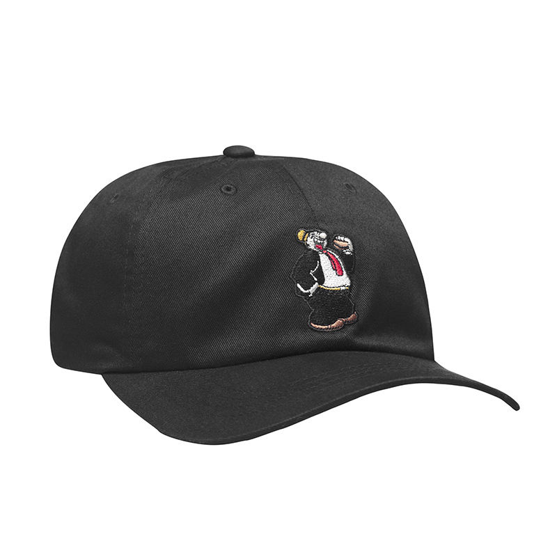 HUF / WIMPY CURVED BRIM HAT (BLACK)