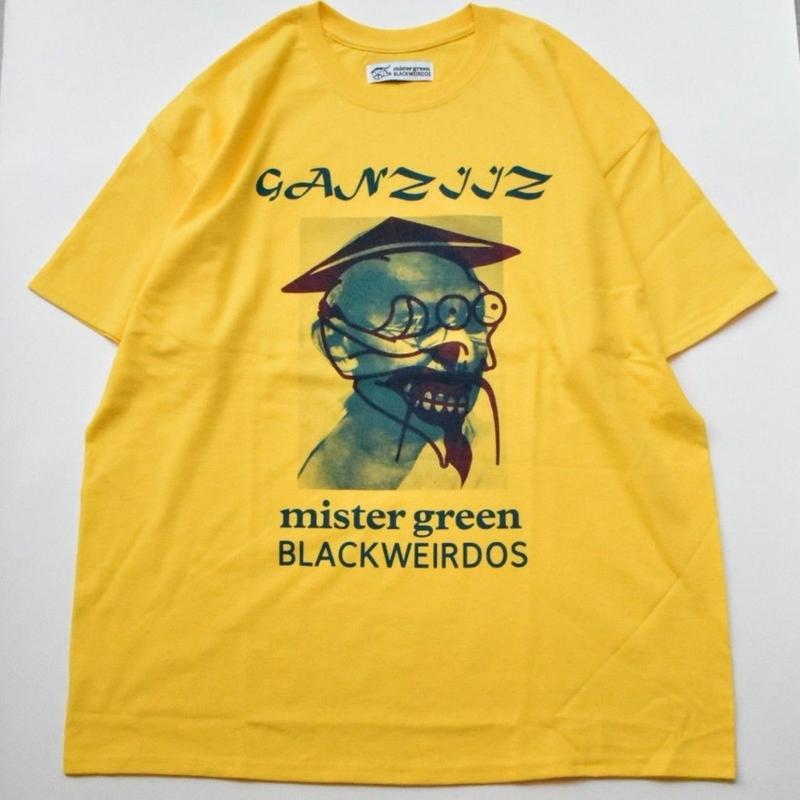 Black Weirdos / Ganziiz S/S Tee  (YELLOW)