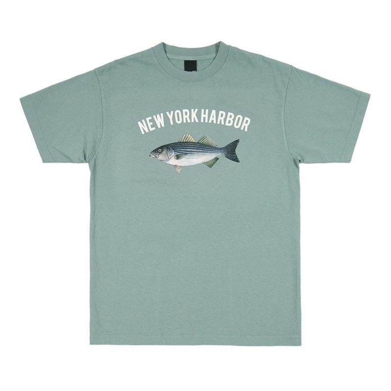 Only NY /  NEW YORK HARBOR T-SHIRT(Atlantic Green)
