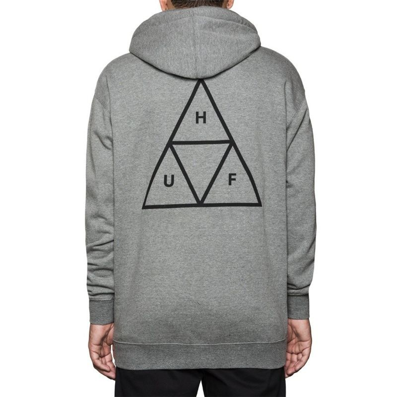HUF / TRIPLE TRIANGLE PULLOVER FLEECE (GREY HEATHER)