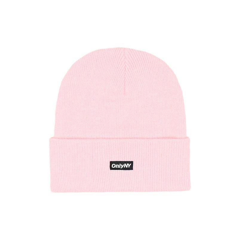 Only NY / Block Logo Beanie (Pink)