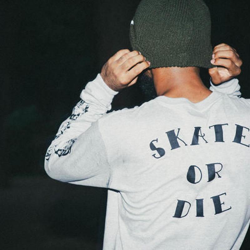 SKATE OR DIE LS TEE(RUTSUBO×SHO WATNABE)