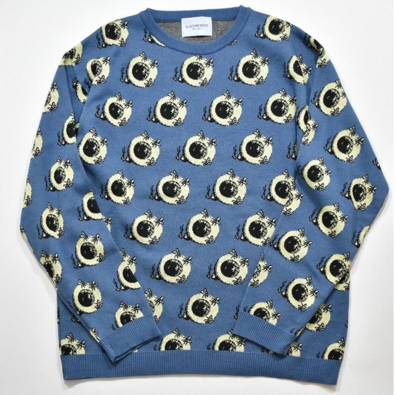 Black Weirdos / EYE-ball Knit  (Blue)