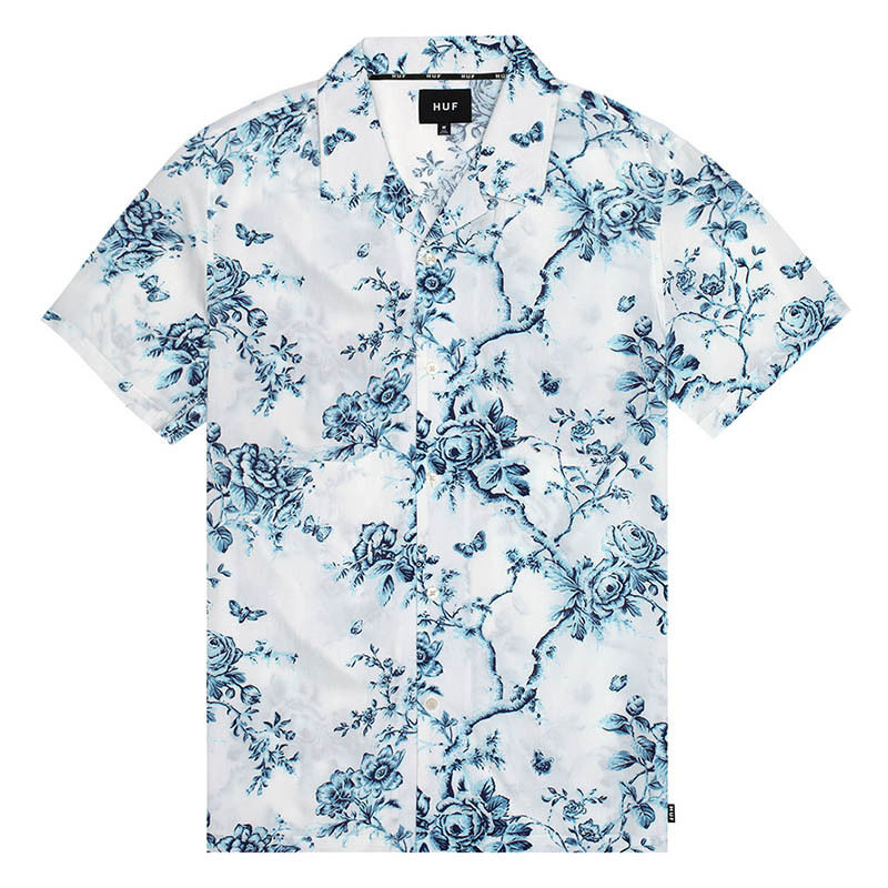 HUF / HIGHLINE S/S WOVEN SHIRT (WHITE)