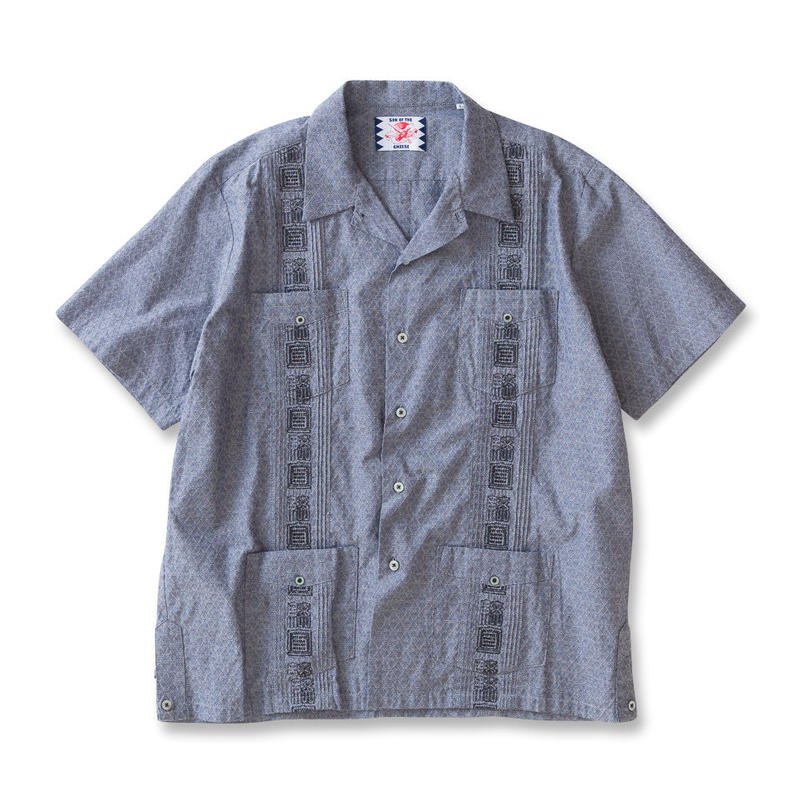 SON OF THE CHEESE / kanji cuba shirts(BLACK)