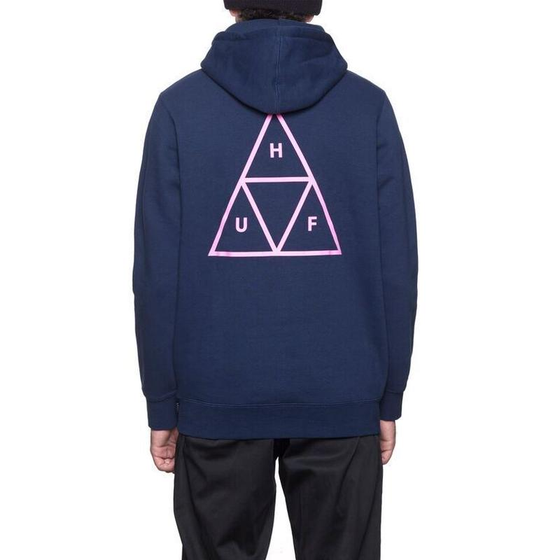 HUF / TRIPLE TRIANGLE PULLOVER HOOD (NAVY)