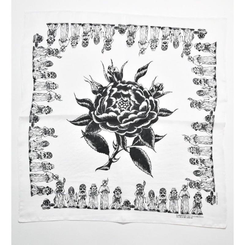 Black Weirdos / SILK Bandana  (White)