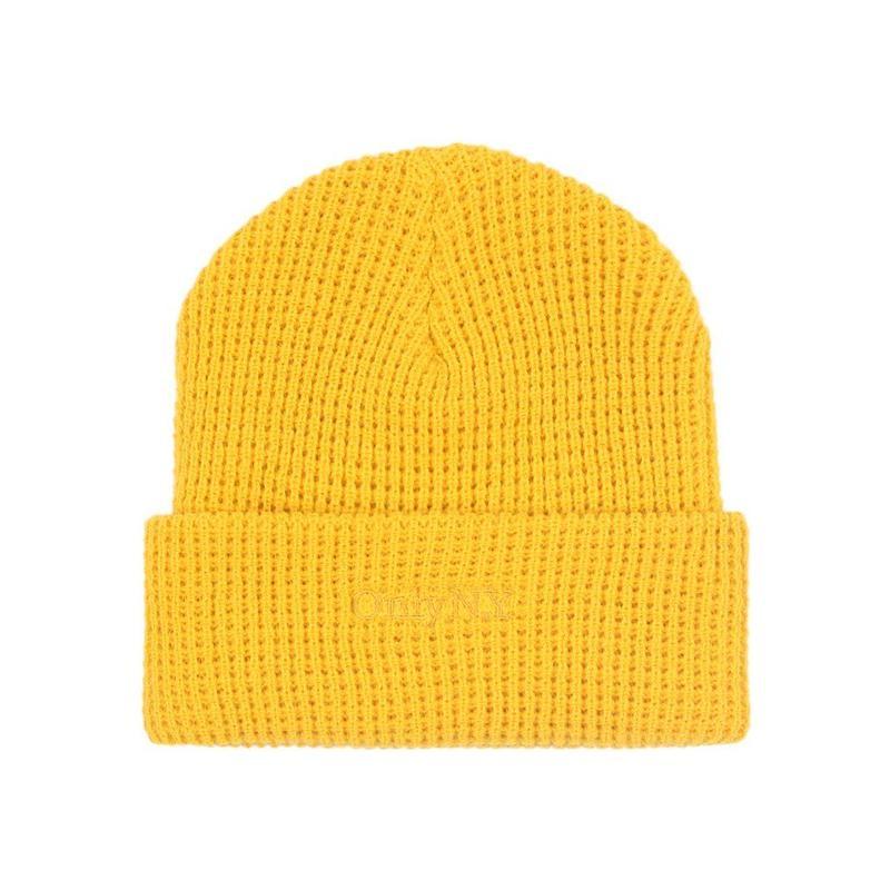 Only NY / Lodge Waffle Knit Beanie (Mustard)