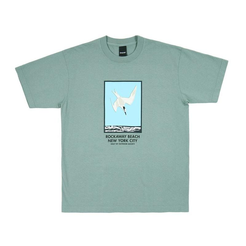 Only NY / ROCKAWAY BEACH T-SHIRT(Atlantic Green)