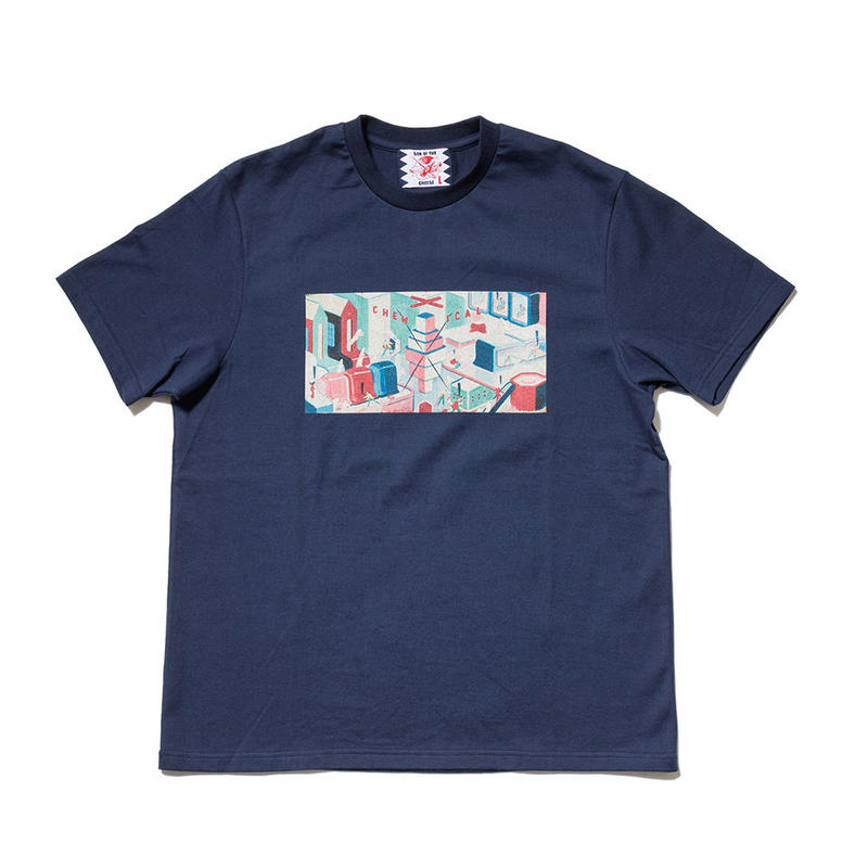 SON OF THE CHEESE / Chem factory TEE(NAVY)