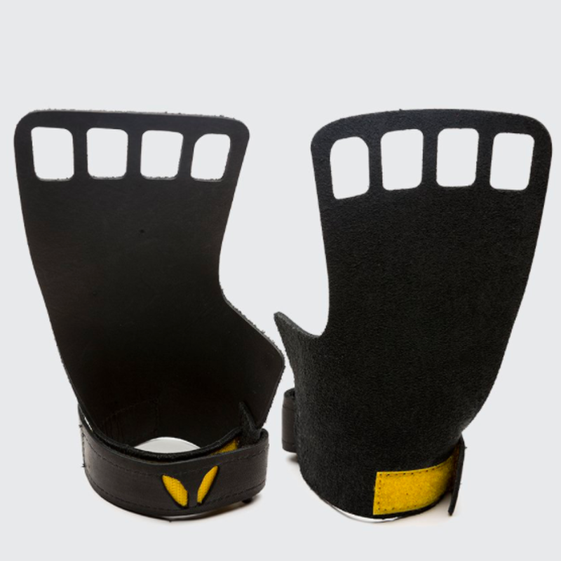 VICTORY GRIPS / MENS : LEATHER 4-Finger BLACK