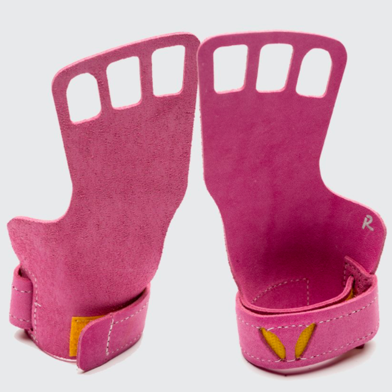 VICTORY GRIPS / WOMENS  LEATHER 3-Finger PINK