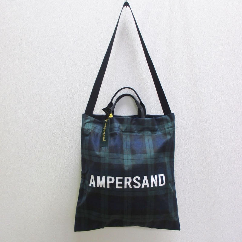 Ampersand 2WAYチェックトートバッグ