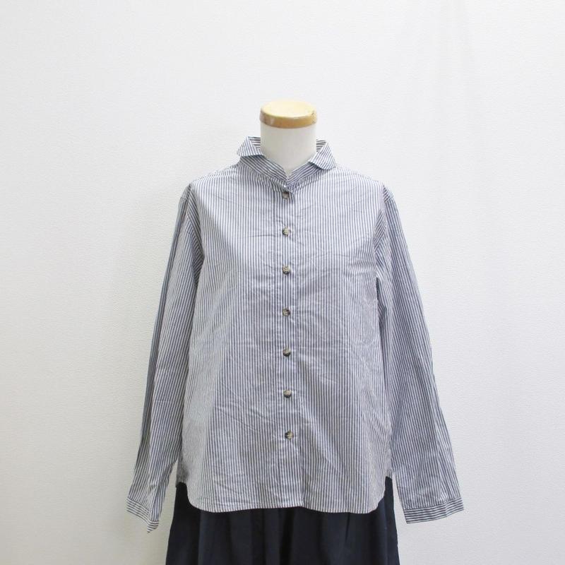 YARRA ラウンドカラーシャツ ストライプ