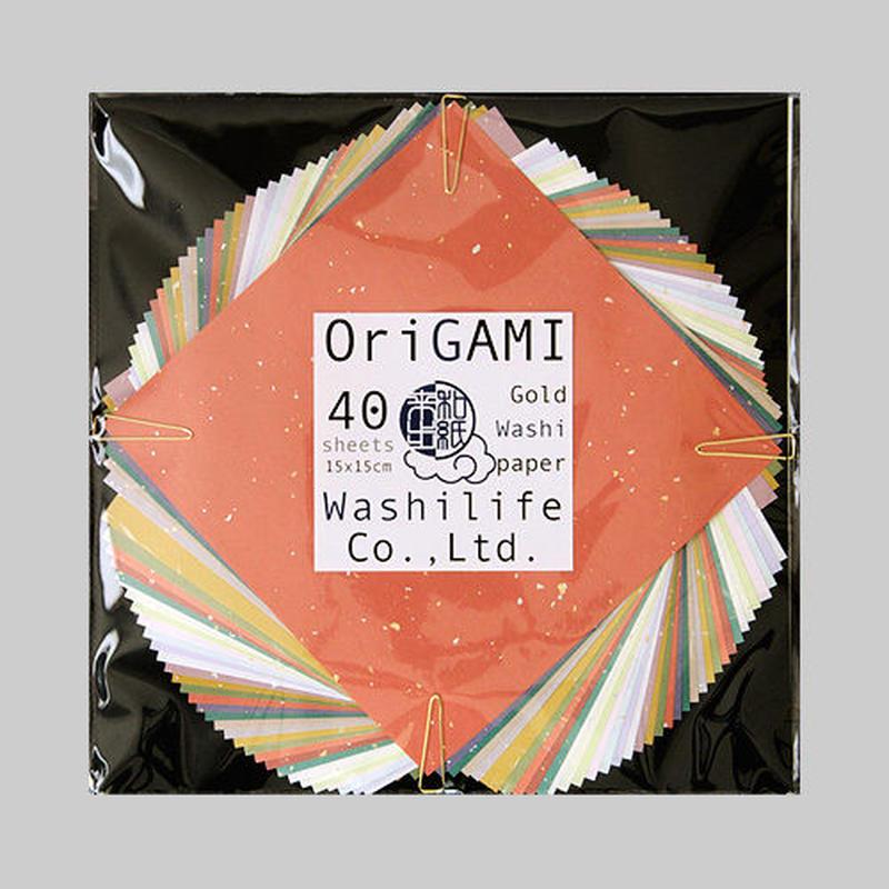 金箔散らし折り紙 40枚入 15×15