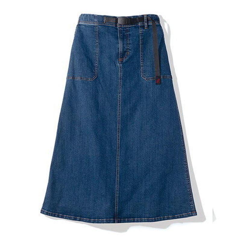 GRAMICCI(グラミチ) ウィメンズ デニムベイカースカート DARK USED [GLSK-079]