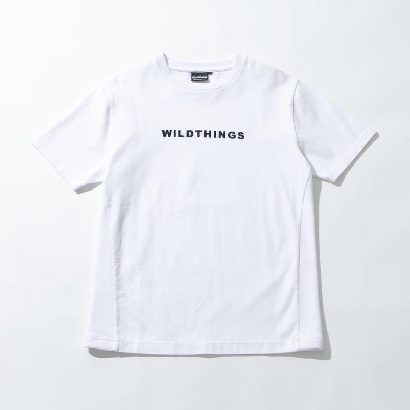 WILD THINGS(ワイルドシングス) S/S EMBROIDERY LOGO ホワイト [WT19014N]