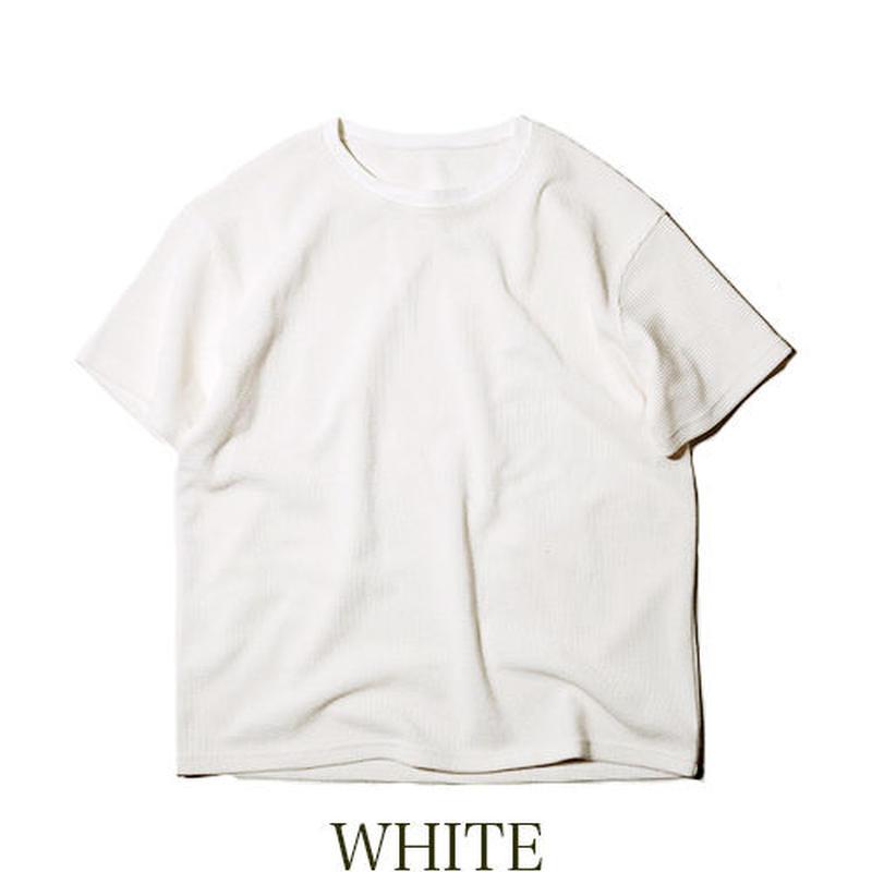 NATAL DESIGN(ネイタルデザイン)  HEAVY WAFFLE TEE WHITE [NAT017]