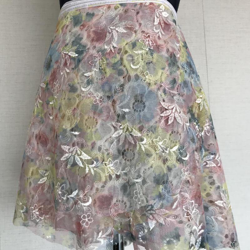 レースリバーシブルバレエ巻きスカート