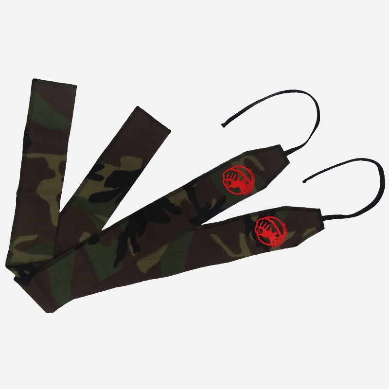 STRENGTH WRAPS / Camouflage // Dark Green (Red logo)
