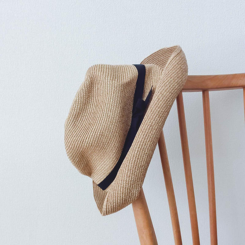 mature  ha.. BOXED HAT 11cm brim grosagrain ribbon