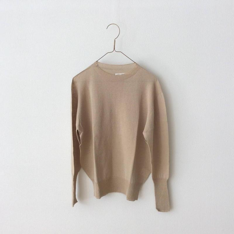 miho umezawa  cotton linen thin yarm pullover