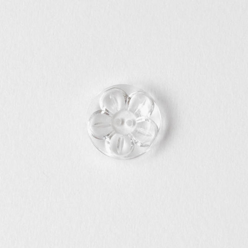 VINTAGE CLEAR FLOWER BUTTON