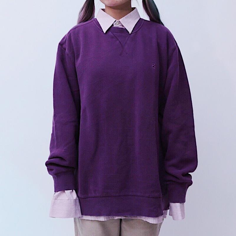BIG silhouette purple sweat
