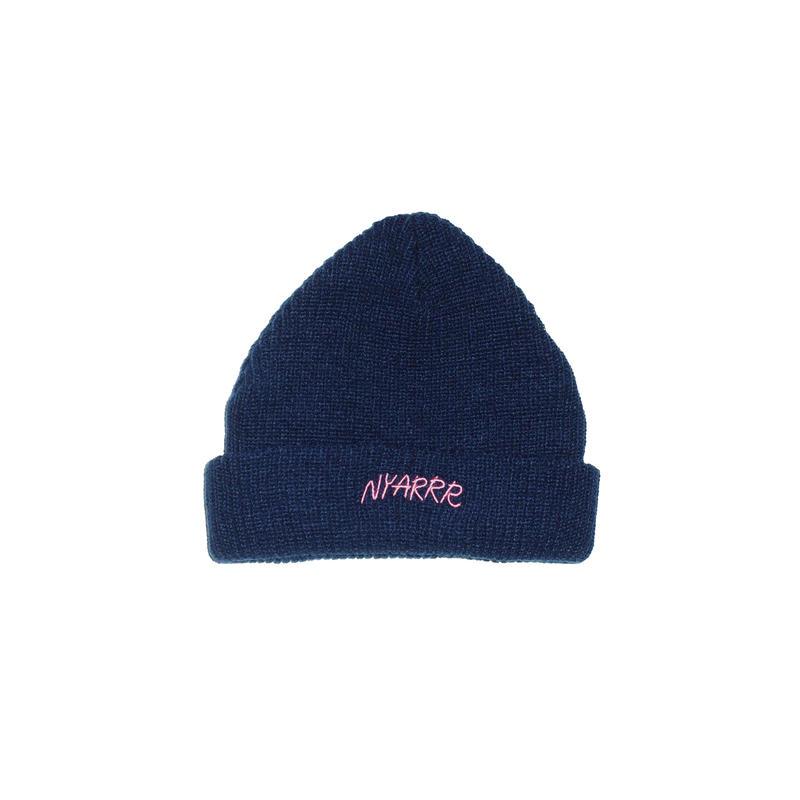 NYARRR logo knit cap ( navy )