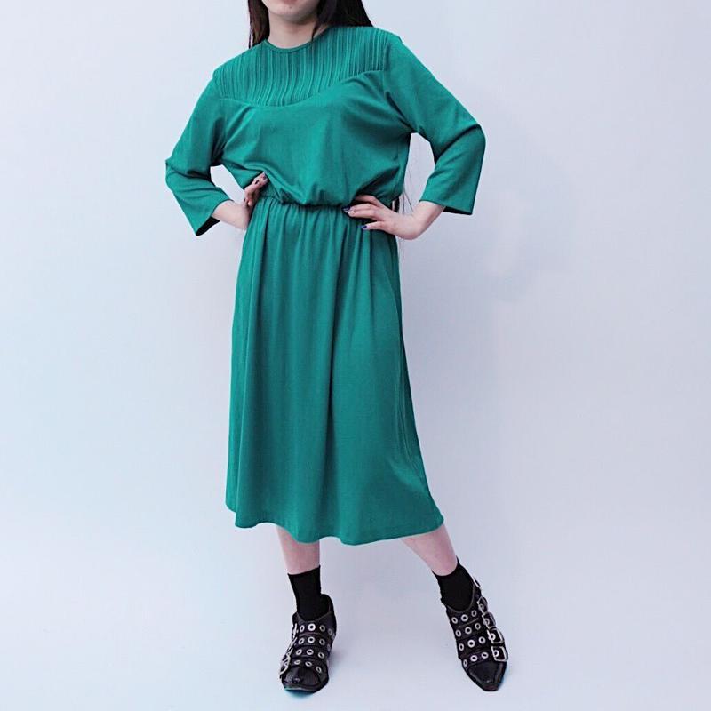 plane green dress