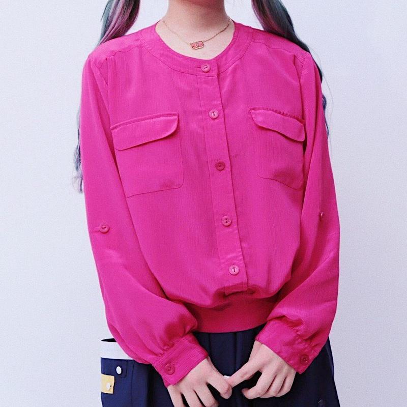 Vivid pink blouse