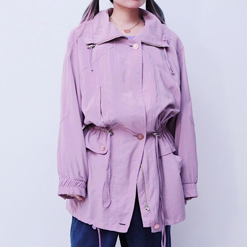 Pastel purple blouson