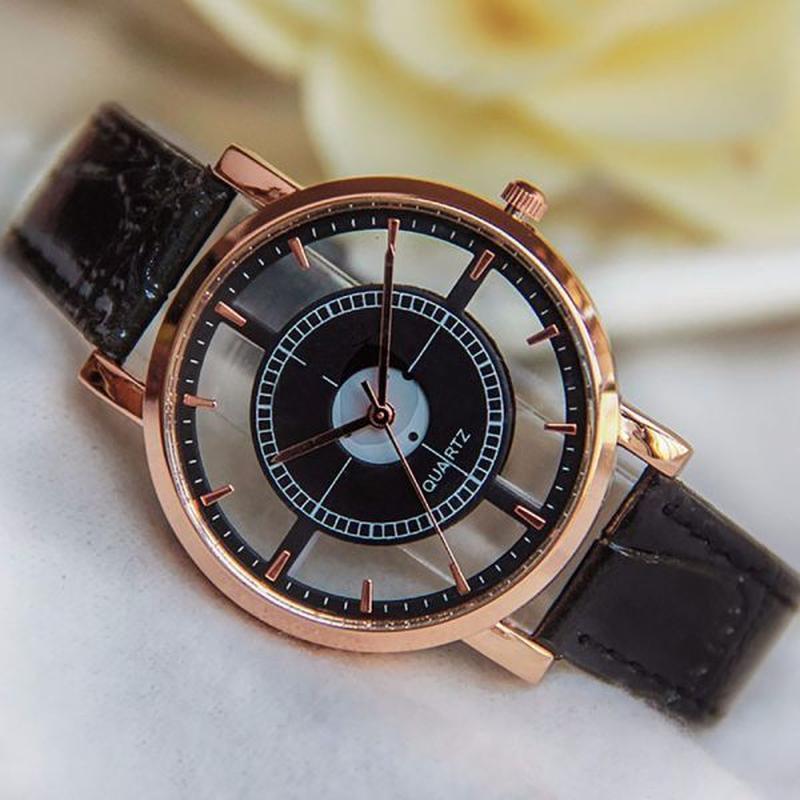 クォーツ腕時計 リロイシンプルレザーバックル ビジネスカジュアル腕時計