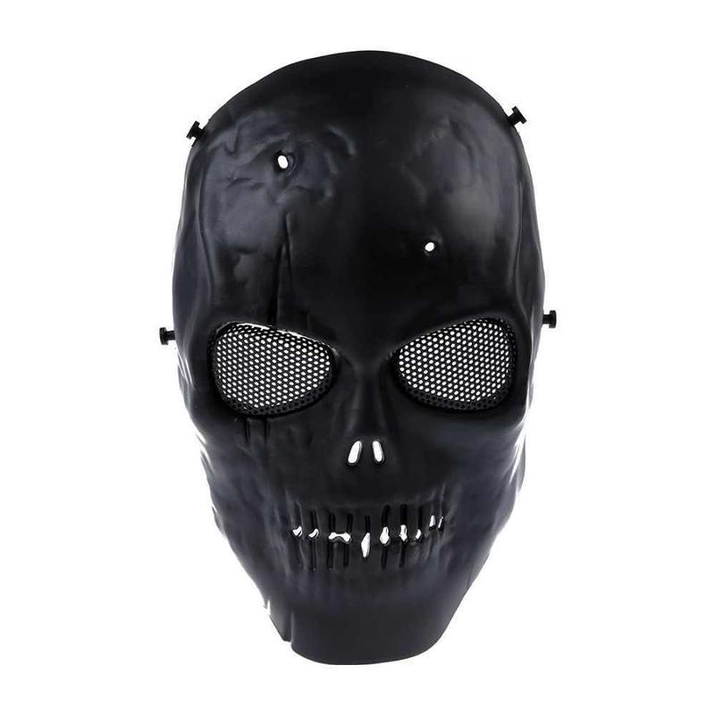 エアガンマスク スカルフル 保護マスク 軍事 ブラック