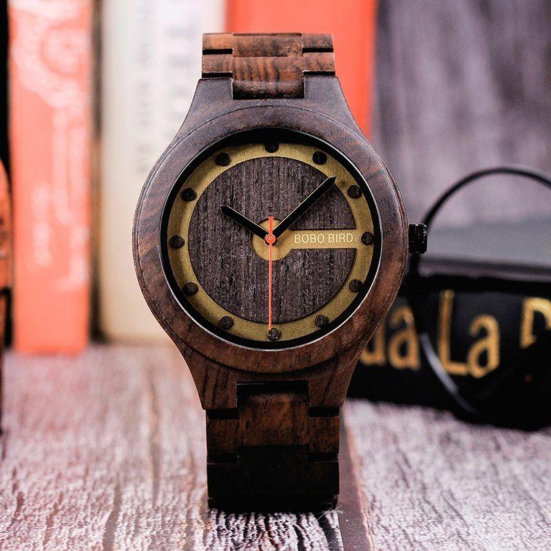 ボボ鳥 時計 木製時計 男性腕時計 ウッドボックス
