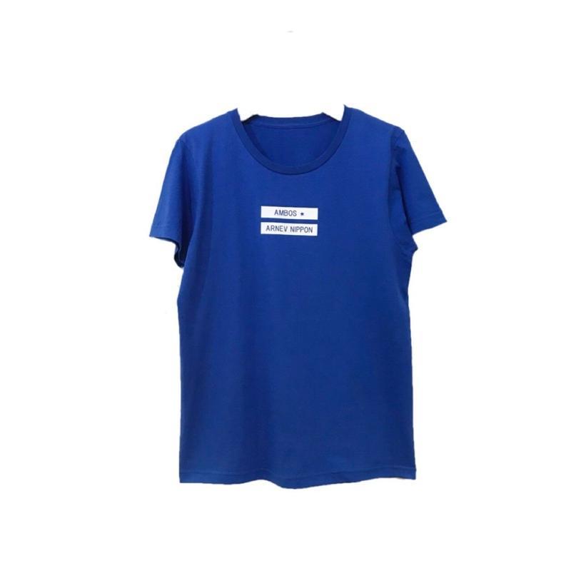 UネックロゴTシャツ