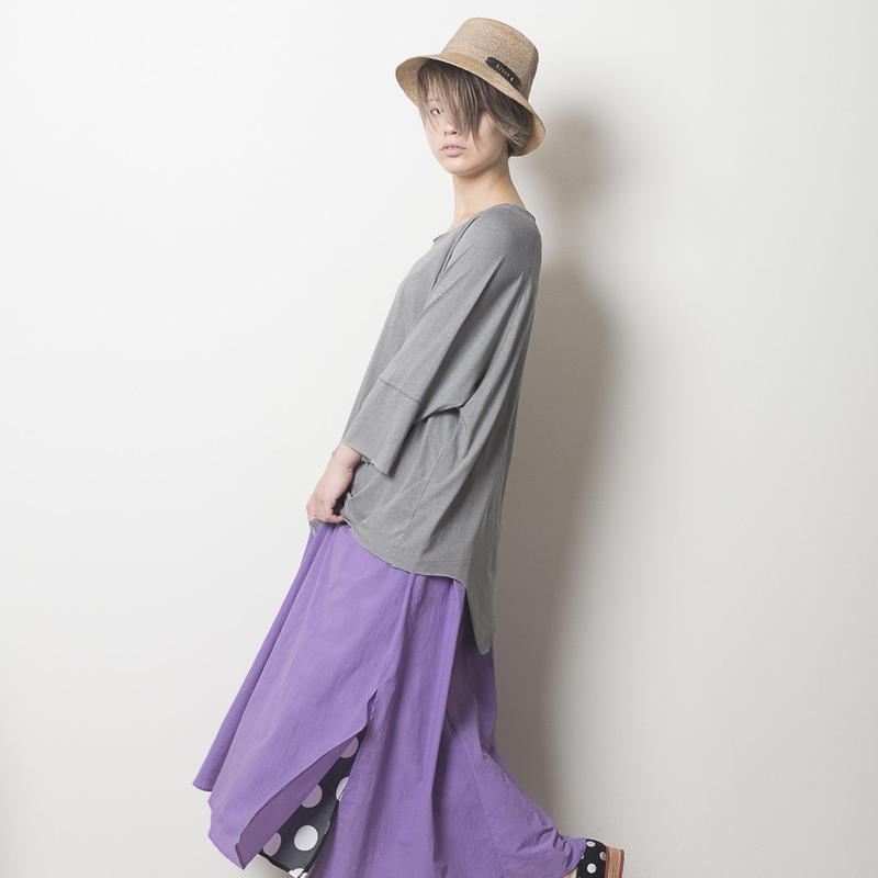 リバーシブルマキシ丈スカート