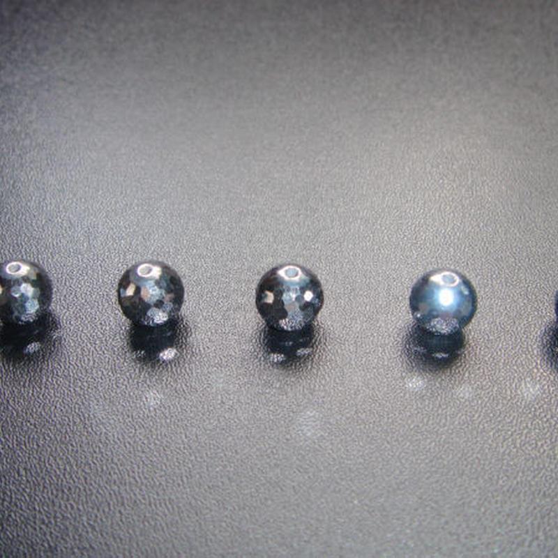 テラヘルツビーズ  128面カット 8mm /多結晶シリコン(ケイ素)純度99.9999% -5個セット