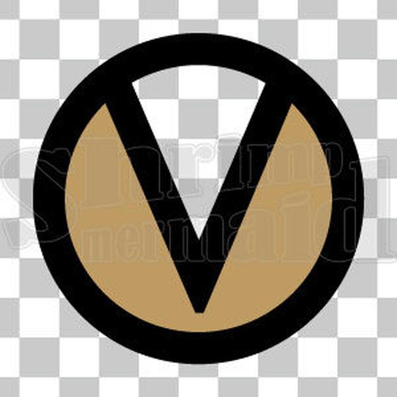 シンプル/色付き黒/png/V