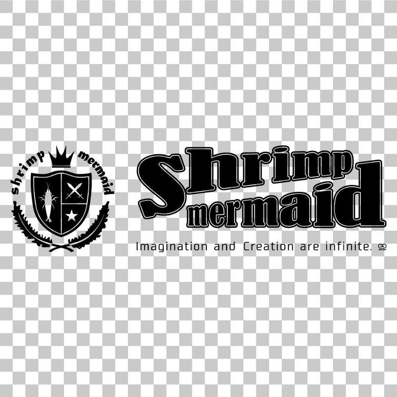 shrimp mermaid/ロゴマーク横/png