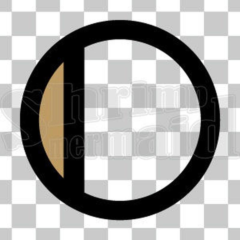 シンプル/色付き黒/png/I
