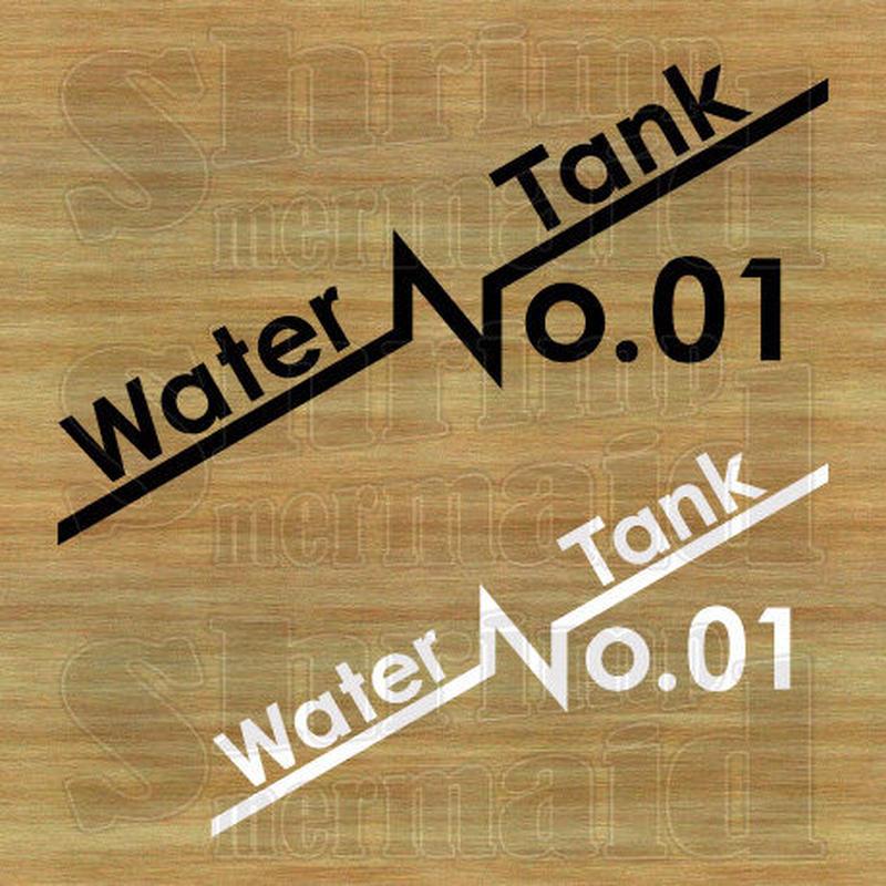 ステッカーシート / Water Tank No.01~99 / 背景抜き
