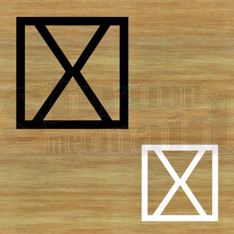 ステッカー・アイロンシート / 和モダン / 白黒 / X