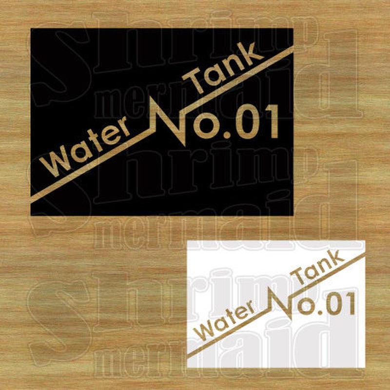 ステッカーシート / Water Tank No.01~99 / 文字抜き
