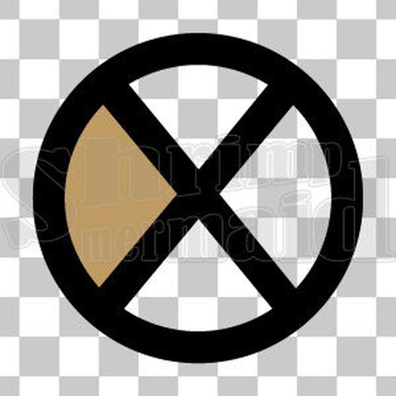 シンプル/色付き黒/png/X