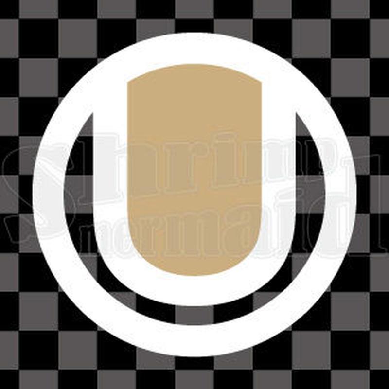 シンプル/色付き白/png/U